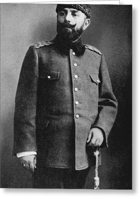 Portrait Of Djemal Pasha Greeting Card by Underwood Archives