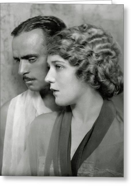 Portrait Of Douglas Fairbanks St. And Mary Greeting Card by Nickolas Muray