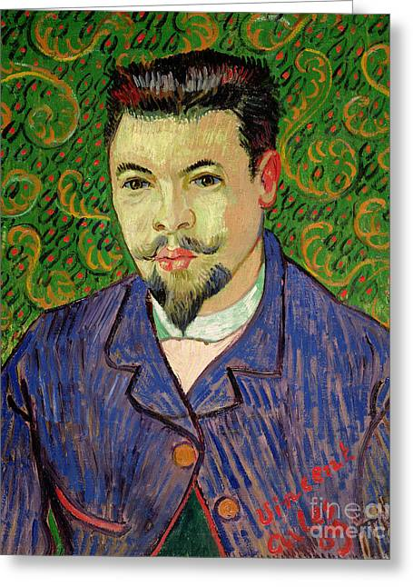 Portrait Of Dr Felix Rey Greeting Card by Vincent van Gogh