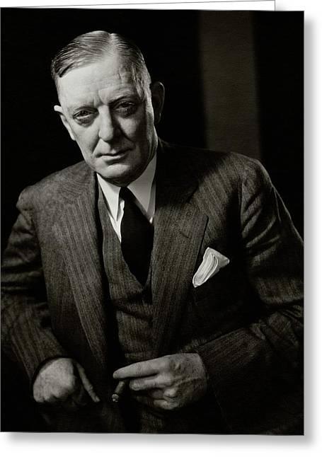 Portrait Of Edward Mulrooney Greeting Card by Edward Steichen