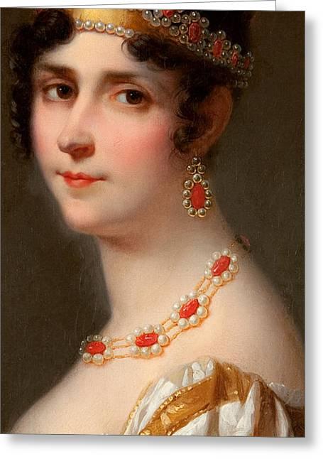 Portrait Of Empress Josephine Greeting Card by Jean Louis Victor Viger du Vigneau