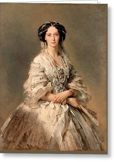 Portrait Of Empress Maria Alexandrovna Greeting Card