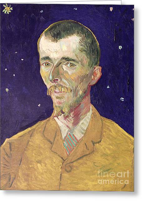 Portrait Of Eugene Boch Greeting Card by Vincent Van Gogh