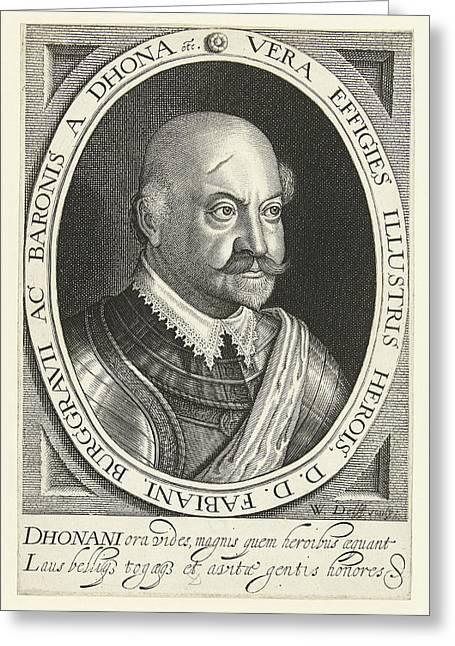 Portrait Of Fabian Von Dohna Greeting Card
