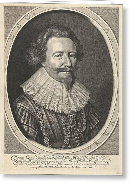 Portrait Of Floris II, Count Of Pallandt Greeting Card