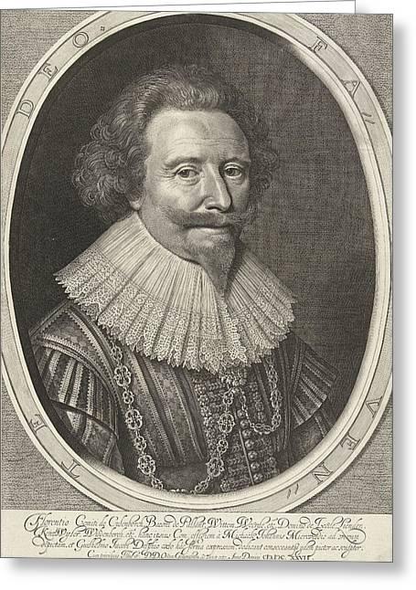Portrait Of Floris II, Count Of Pallandtzaal Greeting Card