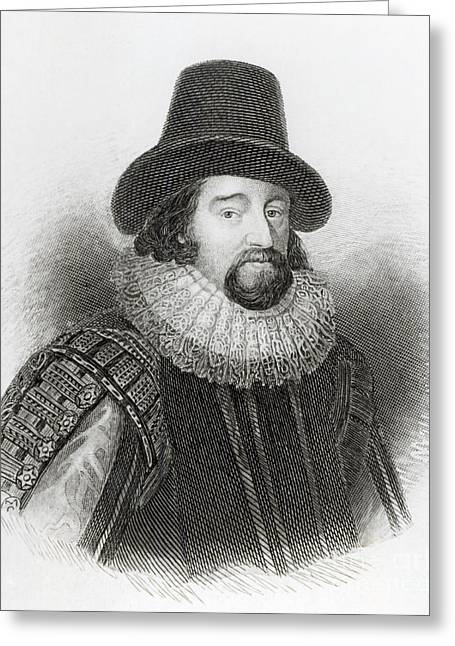 Portrait Of Francis Bacon Greeting Card by English School