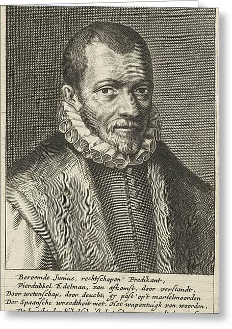 Portrait Of Franciscus Junius Greeting Card