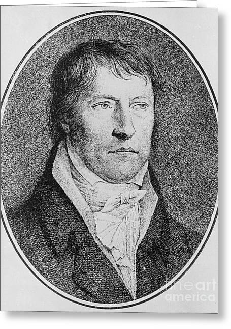 Portrait Of Georg Wilhelm Friedrich Hegel  Greeting Card by FW Bollinger