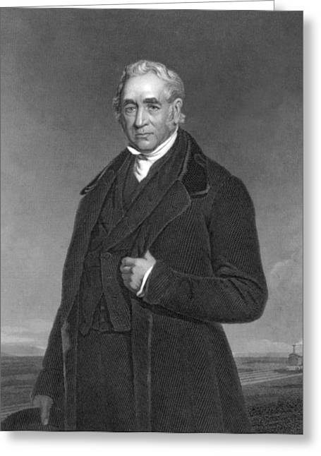 Portrait Of George Stephenson Greeting Card by Underwood Archives