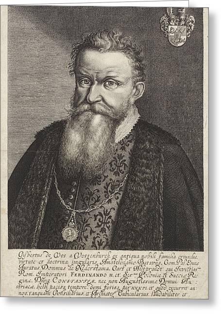 Portrait Of Gijsbertus De Vos Van Vossenburch Greeting Card by Litz Collection