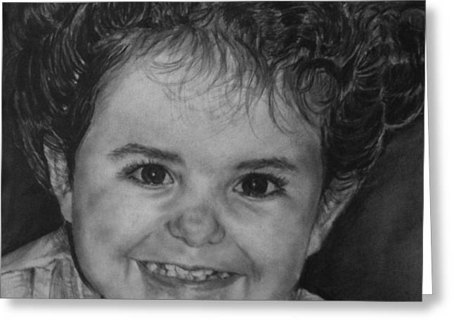 Portrait Of Giulia Greeting Card by Arual Jay
