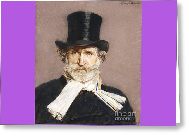 Portrait Of Giuseppe Verdi Greeting Card