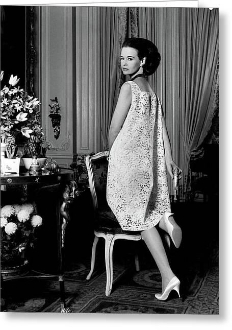 Portrait Of Gloria Vanderbilt Greeting Card by Horst P. Horst