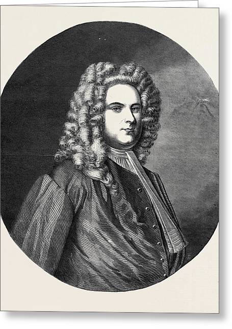Portrait Of Handel From The Original Painted Greeting Card by English School
