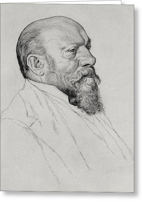 Portrait Of Hans Richter Greeting Card by William Strang