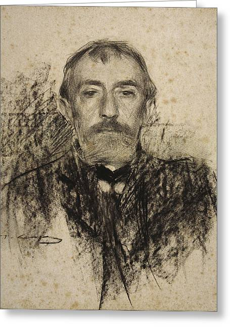 Portrait Of Henry Lerolle Greeting Card by Ramon Casas
