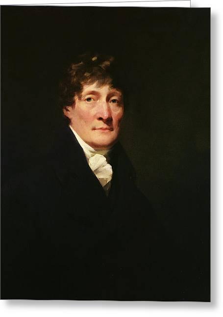 Portrait Of Henry Mackenzie 1745-1831 C.1810 Oil On Canvas Greeting Card by Sir Henry Raeburn