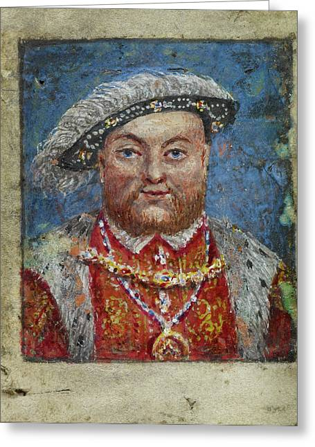 Portrait Of Henry Viii Greeting Card by British Library