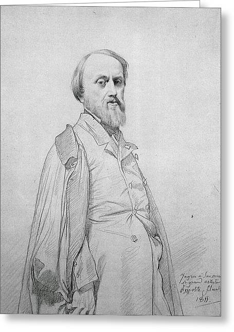 Portrait Of Hippolyte Flandrin Greeting Card by Celestial Images