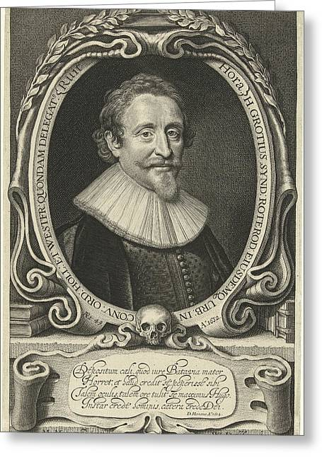 Portrait Of Hugo Grotius At The Age Of 49 Greeting Card