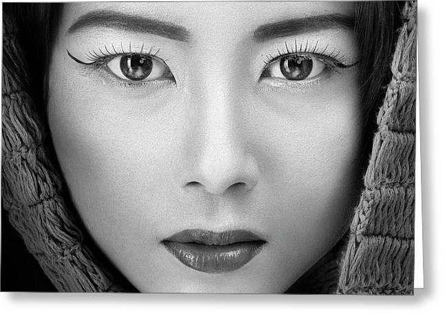 Portrait Of Icha Greeting Card