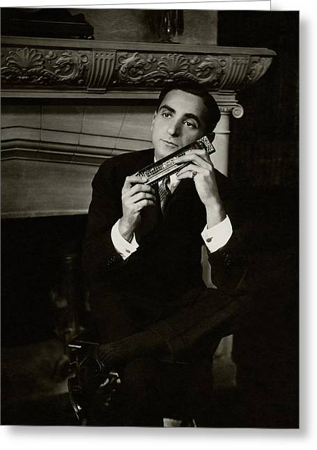 Portrait Of Irving Berlin Greeting Card by Florence Vandamm