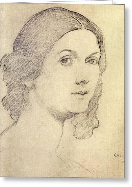Portrait Of Isadora Duncan Greeting Card