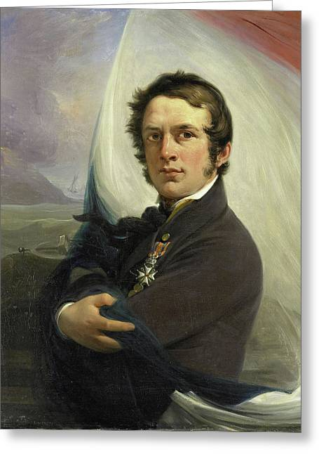 Portrait Of Jacob Hobein, Rescued The Dutch Flag Greeting Card