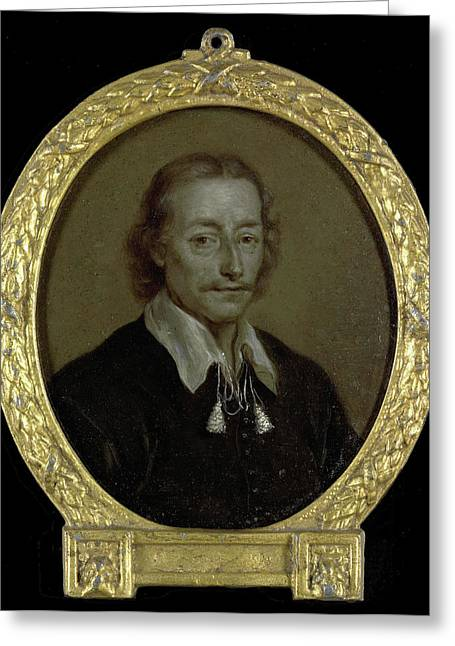 Portrait Of Jacob Jacobsz Steendam, Poet And Historian Greeting Card by Litz Collection