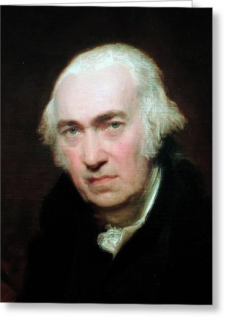 Portrait Of James Watt Greeting Card
