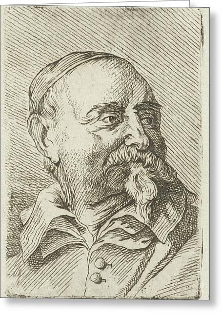 Portrait Of Jan Snellinck, Johannes Hari Greeting Card
