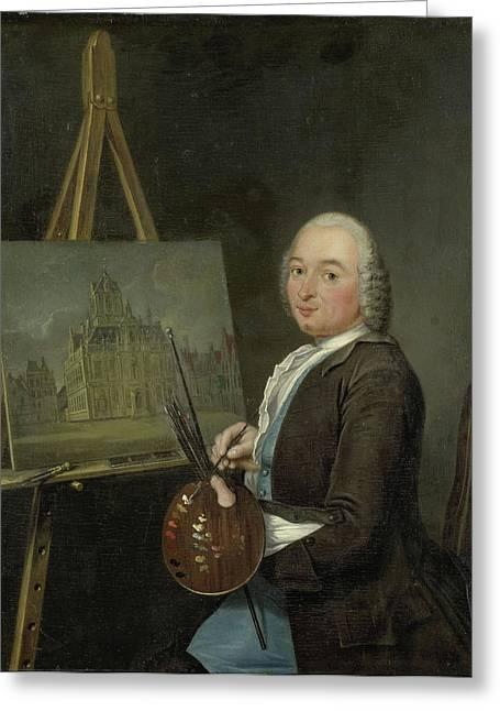 Portrait Of Jan Ten Compe, Painter And Art Dealer Greeting Card