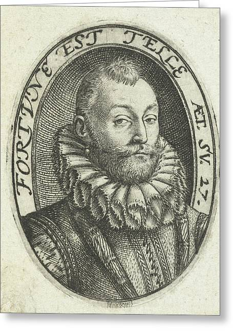 Portrait Of Jan Van Heussen , Hendrick Goltzius Greeting Card