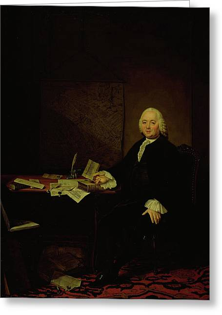 Portrait Of Jan Wagenaar, City Historian Of Amsterdam Greeting Card by Litz Collection