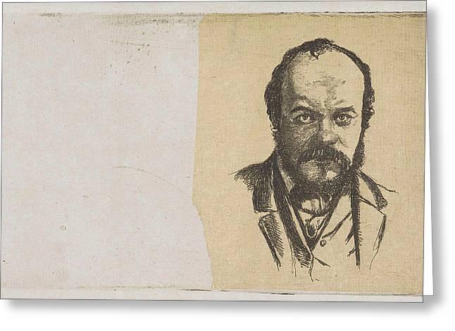 Portrait Of Jan Weissenbruch, Frederik Hendrik Weissenbruch Greeting Card
