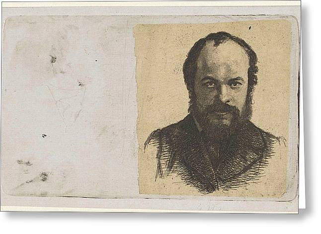 Portrait Of Jan Weissenbruch, Print Maker Frederik Hendrik Greeting Card