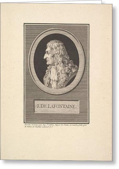 Portrait Of Jean De La Fontaine Greeting Card