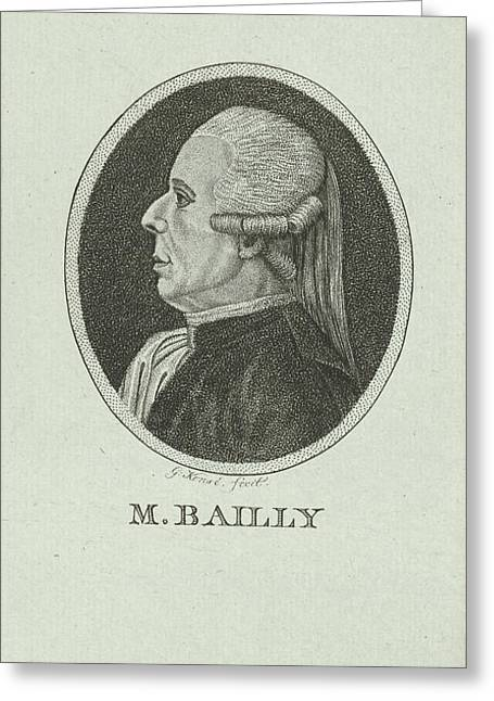 Portrait Of Jean Sylvain Bailly, 1736 - 1793, A French Greeting Card by Quint Lox