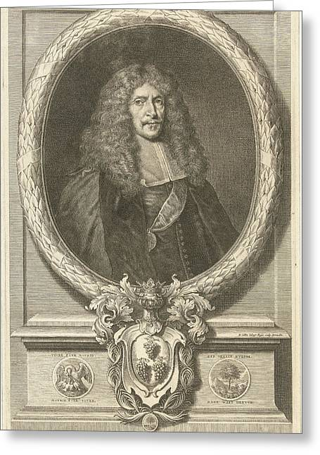 Portrait Of Joachim Von Sandrart, Richard Collin Greeting Card by Richard Collin