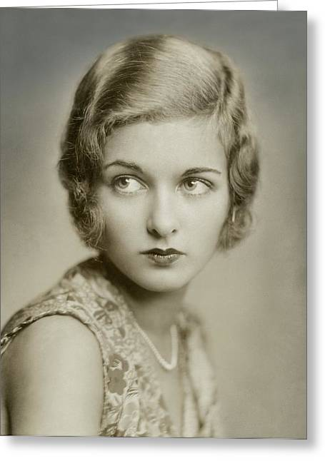 Portrait Of Joan Bennett Greeting Card by Florence Vandamm