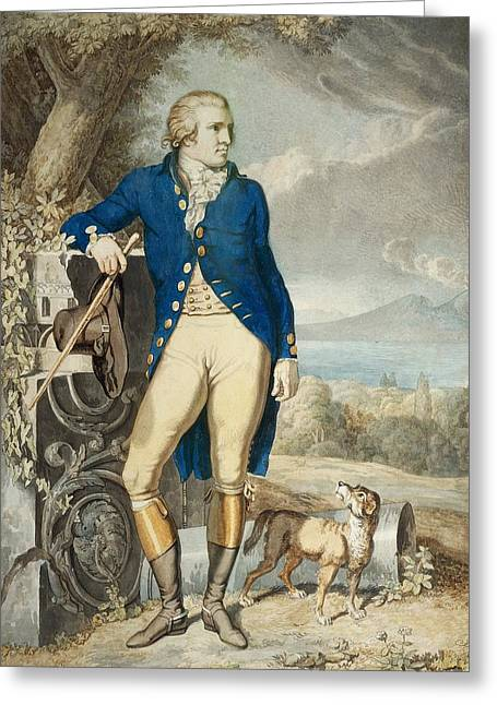 Portrait Of Johann Wolfgang Von Goethe In The Country  Greeting Card