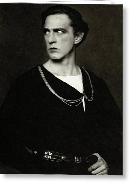 Portrait Of John Barrymore Greeting Card by Edward Steichen