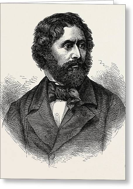 Portrait Of John Charles Fremont, He Was An American Greeting Card