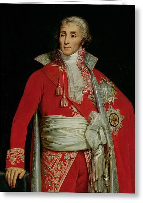 Portrait Of Joseph Fouche Duke Of Otranto Greeting Card