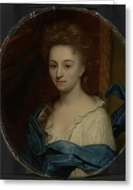 Portrait Of Josina Clara Van Citters, 1671-1753 Greeting Card by Litz Collection