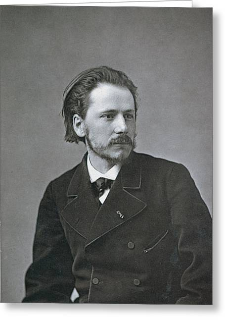 Portrait Of Jules Emile Massenet Greeting Card by French Photographer