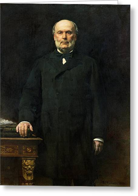 Portrait Of Jules Grevy 1807-91 1880 Oil On Canvas Greeting Card