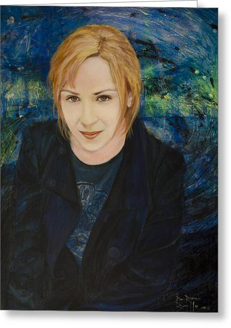Portrait Of Katarzyna Magda Greeting Card