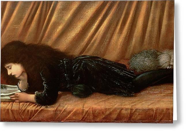 Portrait Of Katie Lewis Greeting Card by Sir Edward Coley Burne-Jones